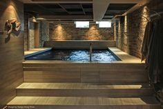 Endless Pool in the basement!! <3 this idea :)