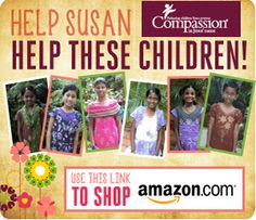 We have a total of 6 girls we are sponsoring with Compassion on the blog - remember to click through this amazon link to contribute when you purchase on amazon!