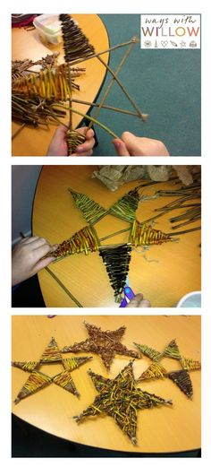 Christmas Stars - Ways with Willow Crafts for Christmas #Cornwall