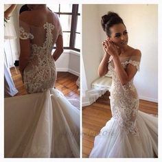 Awesome 2017 Sexy Mermaid Wedding Dress White/Ivory Bridal Ball Gown Custom Size 2-28 2017-2018 Check more at http://fashion-look.top/product/2017-sexy-mermaid-wedding-dress-whiteivory-bridal-ball-gown-custom-size-2-28-2017-2018/