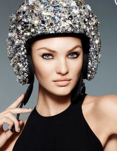 Who wants a Tiara when you can get a Swarovski covered Helmet... :)