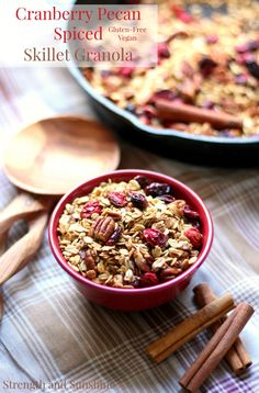 Featured on the Hoemstead Blog Hop - Cranberry-Pecan-Spiced-Skillet-Granola