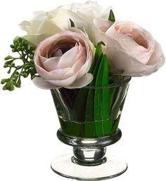 Faux Ranunculus & Rose