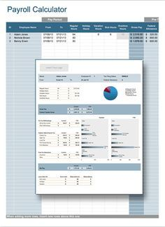 Cehaer Free Payroll Calculator Template Annual Leave Spreadsheet