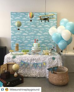 Hot Air Balloon Birthday Party Ideas Hot Air Balloon Party Ideas
