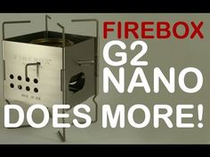 When it comes to ultralight backpacking camp stoves none is more versatile than the Firebox G2 NANO with three ways to fuel it with wood, three height positi...