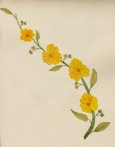 FLOWER FLOWER: 꽃잎이 앏아 겹쳐진게 보이는 맒은 노란 꽃