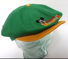 Mickeys Toontown Hat Mickey Mouse Walt Disney Disneyland VTG Snap Back Ball Cap #DisneyMickeyMouse