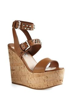 d4731ac0dbf Matiko Bryn II Peppermint Strappy Ankle Cuff Wedge Sandals ...