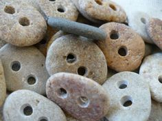 stone buttons.