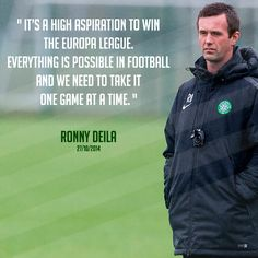 Celtic manager Ronny Deila speaking to the media at Lennoxtown on 27th October 2014.