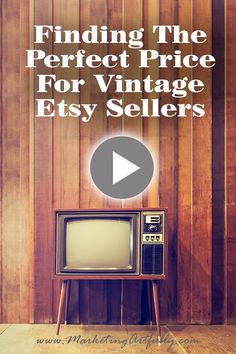 Finding the right price for vintage Etsy sellers. Today I am looking at how to price your items for sale on Etsy using the Marmalead tool, other listings and what you paid for the item in the first place. Etsy Marketing, Vintage Etsy Sellers