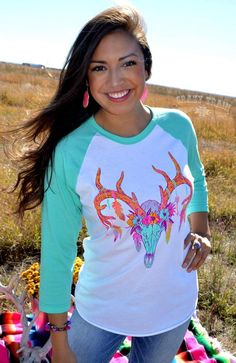 Flaunt My Feather Buck Baseball - Also in Plus Size