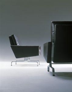 Poul Kjærholm, PK31 armchairs, 1958. Originally manufactured by E. Kold Christensen, Denmark.