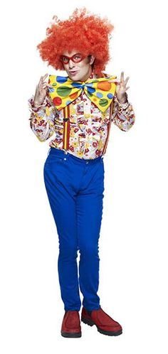 Unisex Men/'s Women/'s Clown Rainbow Circus Carnival Fancy Dress Gloves Stag Hen