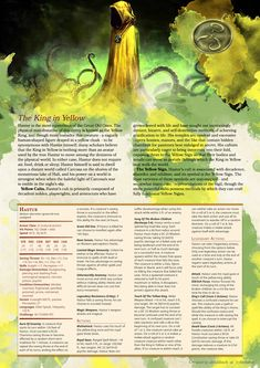 [Homebrew] Lovecraftian Monsters: Hastur, The King in Yellow v2