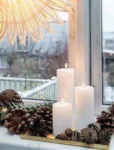 Keltainen talo rannalla: Rustiikkia, modernia ja joulua