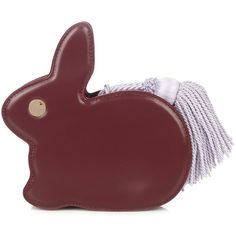 Hillier Bartley Bunny leather clutch ($593) ❤ liked on Polyvore featuring bags, handbags, clutches, burgundy multi, studded handbags, studded clutches, burgundy leather handbags, red leather handbags and studded purse