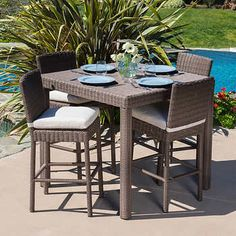 Milano 5-piece Bar-height Dining Set