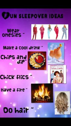 249cff234b 34 Best Sleepover Fun Ideas   (Of Course) Food! images