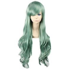 Prettymart Cosplay Wig Harajuku Lolita Lang Gewellt Gruen Karneval Party Anime Hair ** See this great product.