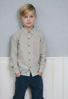 Serendipity Organics FW1920 - Capers Stripe Shirt and Atlantic Velvet Pants