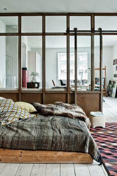Atelier rue verte, le blog / Copenhague / Chambre avec verrière /