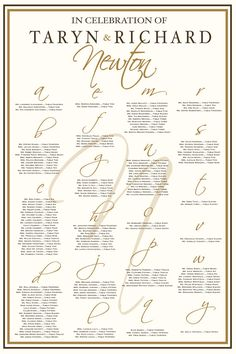 Wedding Seating Chart From CharmingpapershopCom  Custom Wedding