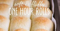 Soft and fluffy one hour rolls - you will not believe that these fantastic rolls take only an hour to make!    It's no secret that I love br...