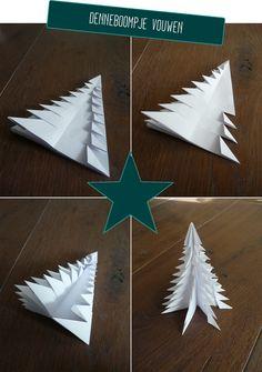 Denneboompje vouwen! DIY: Kerstversiering deel 2