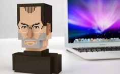 A full-color, high-quality bust of the legendary, celebrated former Apple founder and CEO Steve Jobs, modeled and textured in a retro pixel style by the Dutch Sevensheaven design studio. 3d Printing Companies, 3d Printing Service, Impression 3d, Steve Jobs, 3d Printer Software, Innovation, 3d Printed Objects, Maker Culture, Pop Culture