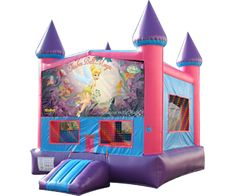 Disney Tinkerbell Castle Bounce House Moonwalk Rentals in Atlanta....Perfect for any T inker Bell or Fairy themed Birthday Party.
