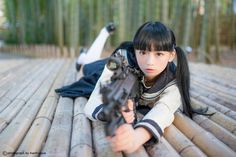 Japanese School Girl Cosplay Immagine di yura, ゆら, and kawaii - Japanese School, Japanese Girl, Geisha, Gunslinger Girl, Military Women, High School Girls, Action Poses, More Cute, Beautiful Asian Women