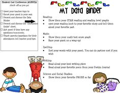 student led conferences. This is great since parent teacher conferences are around the corner.