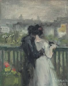 Couple on the Terrace by Pierre Laprade
