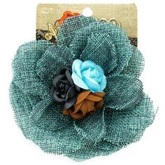 Fashion Tidbits Turquoise Burlap Flower Hair Clip | Shop Hobby Lobby