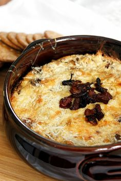 Bacon, Caramelized Shallots, and Swiss Dip