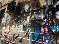 Melbourne laneway graffiti