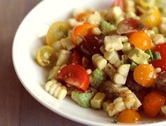Grilled corn, tomato and avocado salad | With Style and Grace @Lisa Thiele