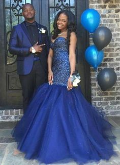 Cheap prom dresses Buy Quality mermaid prom directly from China mermaid prom dress Suppliers: Dark Navy Mermaid Prom Dresses 2017 Stunning Beaded Sweetheart Black Girls Pageant Evening Gowns with Puffy Train Plus Size Mermaid Style Prom Dresses, Royal Blue Prom Dresses, Strapless Prom Dresses, Elegant Prom Dresses, Prom Dresses 2017, Plus Size Prom Dresses, Mermaid Evening Dresses, Tulle Prom Dress, Cheap Prom Dresses