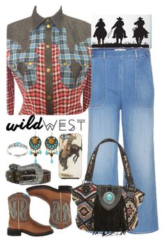 """Untitled #521"" by veronica7777 ❤ liked on Polyvore featuring MiH Jeans, Ariat, Just Cavalli, Montana West, M&F Western and Journee Collection"