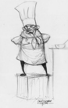carter goodrich | Character design by Carter Goodrich for the film 'Ratatouille ...