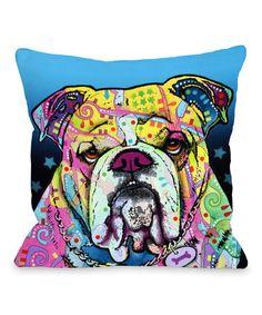 Look at this #zulilyfind! The Bulldog Pillow #zulilyfinds