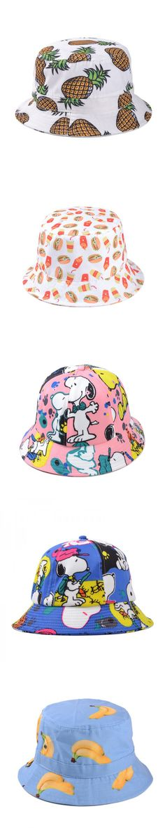 290a00db730 Fashion Lovely Cartoon Printed Polo Bucket Hats For Women Men Outdoor  Summer Fishing Hat Cap 100% Cotton High Quality ZJ-AHB068  8.58