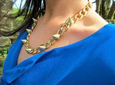 LC's Closet Style Blog, My Style, Blouse Styles, Blue Blouse, Chain, Closet, Jewelry, Fashion, Moda