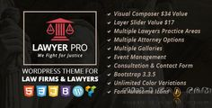 Lawyer Pro  Responsive WordPress Theme for Lawyers