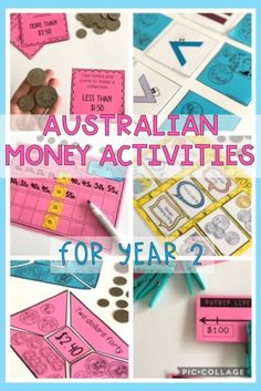 Australian Money Pack - Hands on Australian money activities - Year 2 Counting Money Games, Counting For Kids, Money Activities, Hands On Activities, Math Resources, Counting Coins, Teaching Money, Teaching Math, Teaching Ideas
