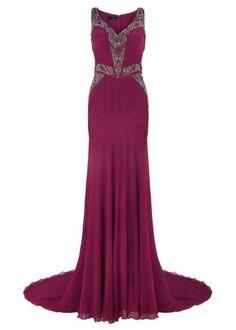 Jelena Dress - Berry | Long Dresses | Amanda Wakeley