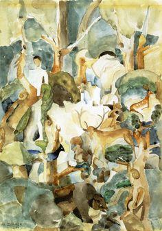 Adam and Eve                                        Marguerite Thompson Zorach    - 1920                        Boston Museum of Fine Arts (United States