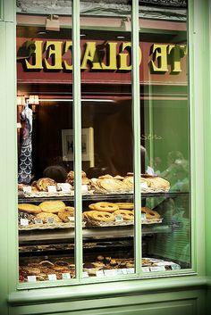 Bakery window in Montmatre near Sacre Couer | Paris